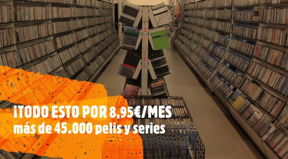 Tarifa plana de Video Instan. 45000 Películas y series por 8,95 al mes