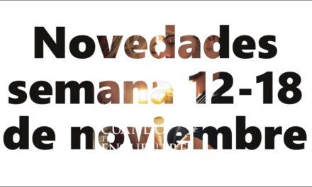 Novedades en DVD y BR para la semana del 12-18 de noviembre